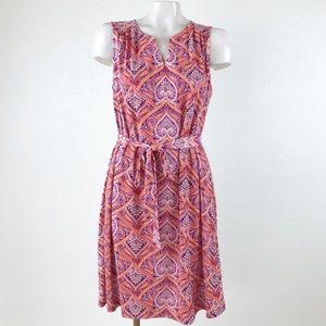 As You Wish sleeveless belted shift dress.    B036
